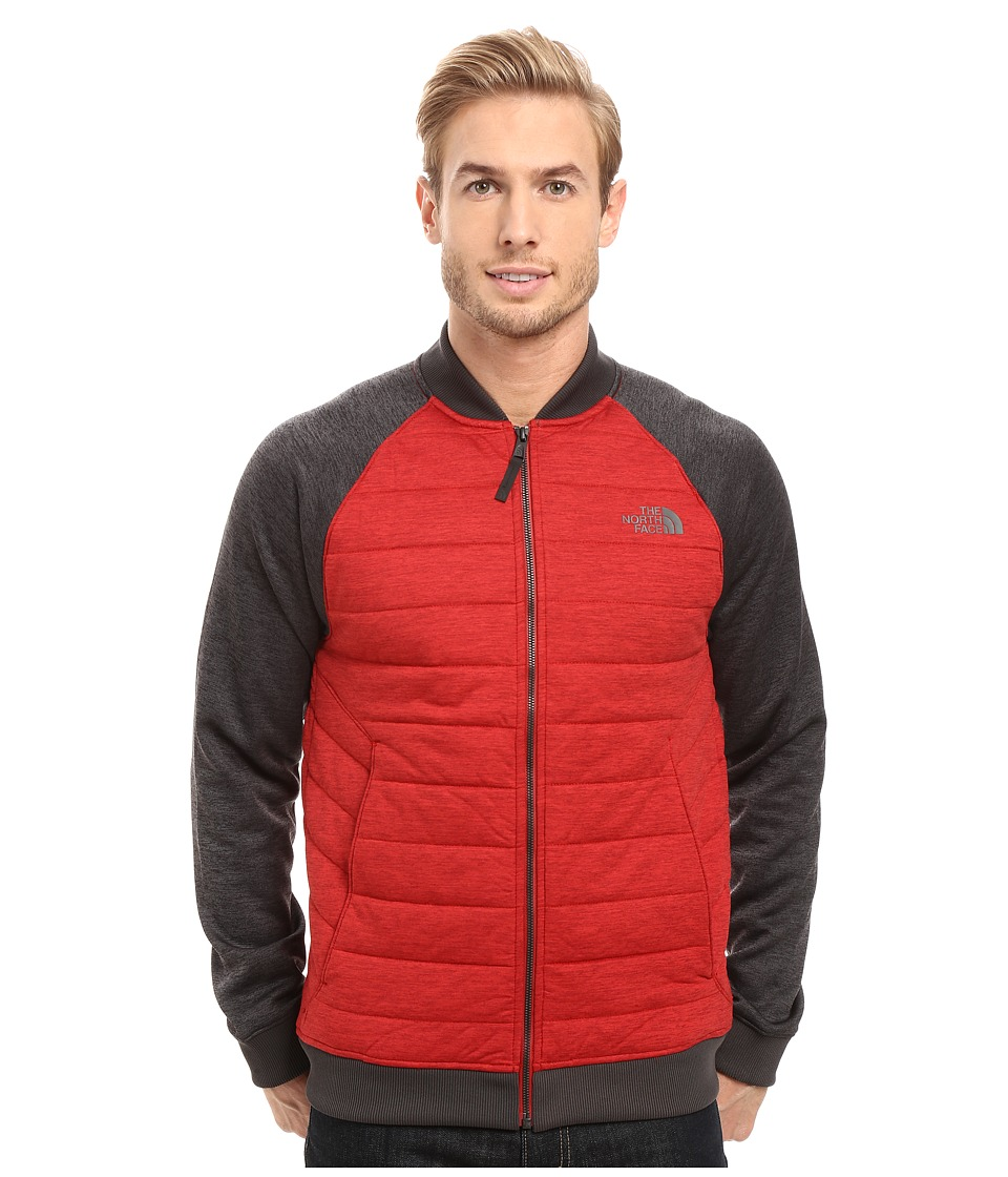 The North Face - Norris Point Insulated Full Zip (Cardinal Red Heather/TNF Dark Grey Heather) Men's Clothing