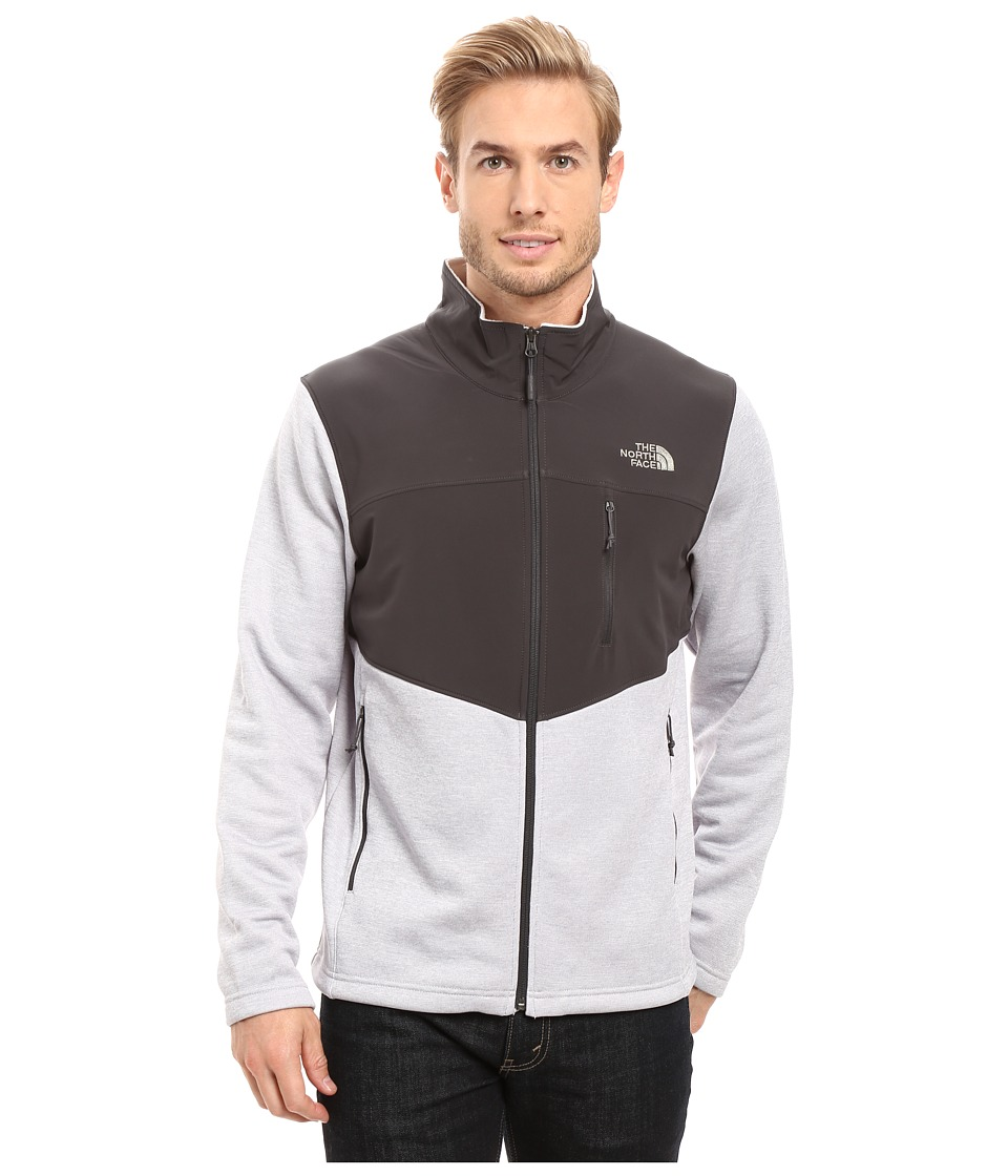 The North Face - Norris Full Zip (TNF Light Grey Heather/Asphalt Grey/Moon Mist Grey) Men's Coat