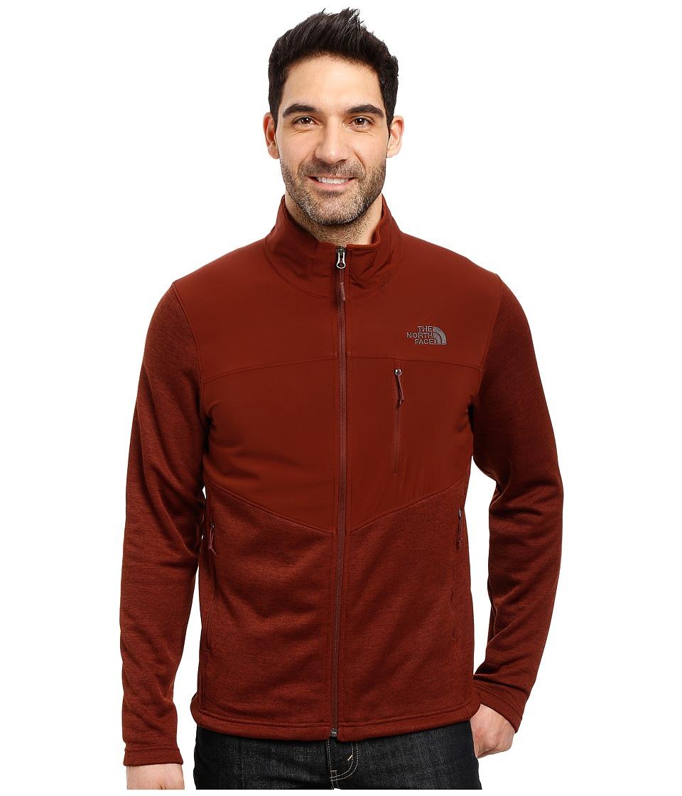 The North Face - Norris Full Zip (Sequoia Red Heather/Sequoia Red) Men's Coat