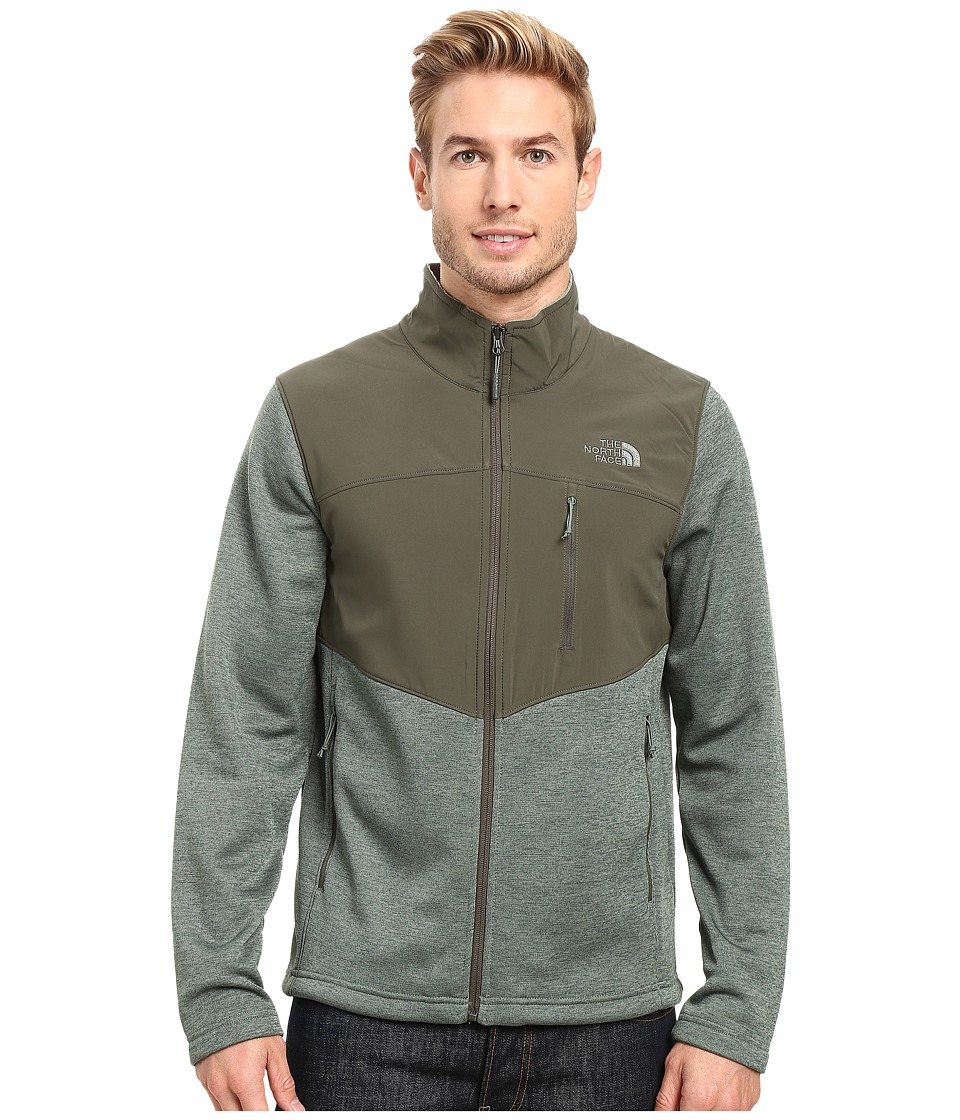 The North Face - Norris Full Zip (Duck Green Heather/Climbing Ivy Green) Men's Coat