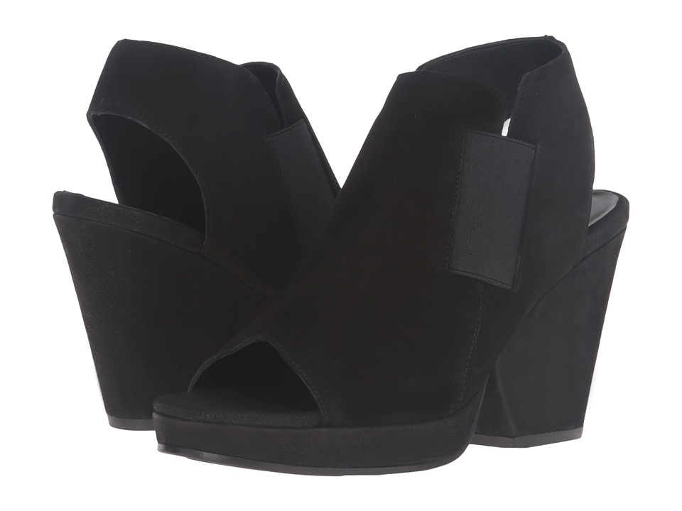 Eileen Fisher - Plus (Black Tumbled Nubuck) High Heels