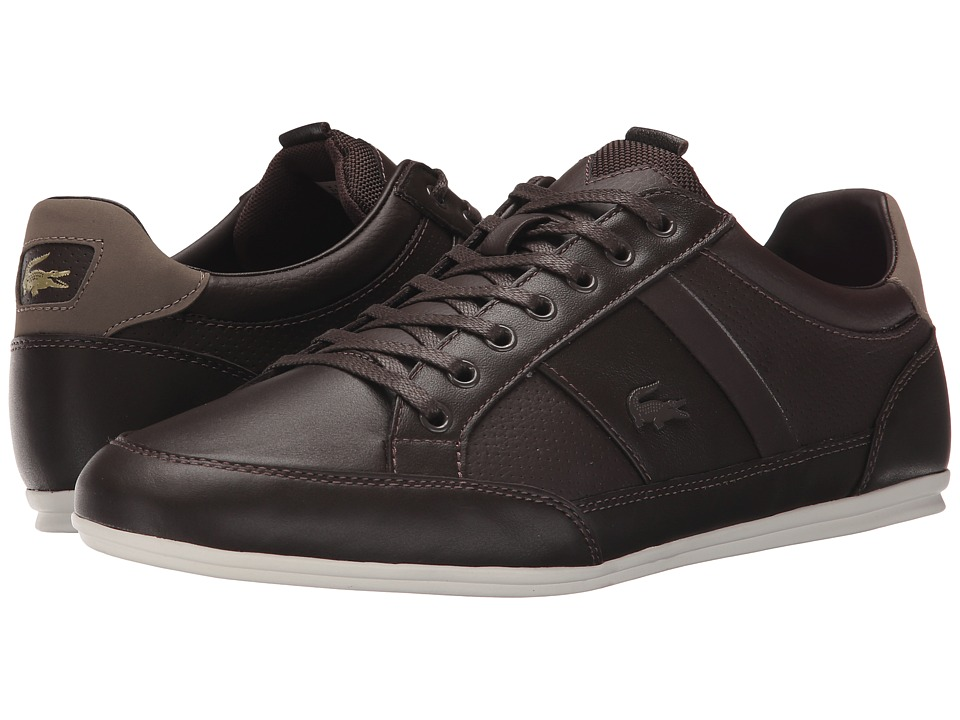 Lacoste - Chaymon PRM (Dark Brown/Light Brown) Men's Shoes