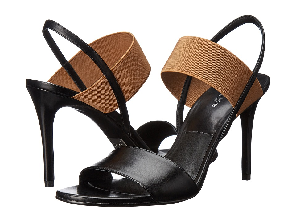 Michael Kors - Chantal Runway (Black/Sun Tan Smooth Calf) High Heels