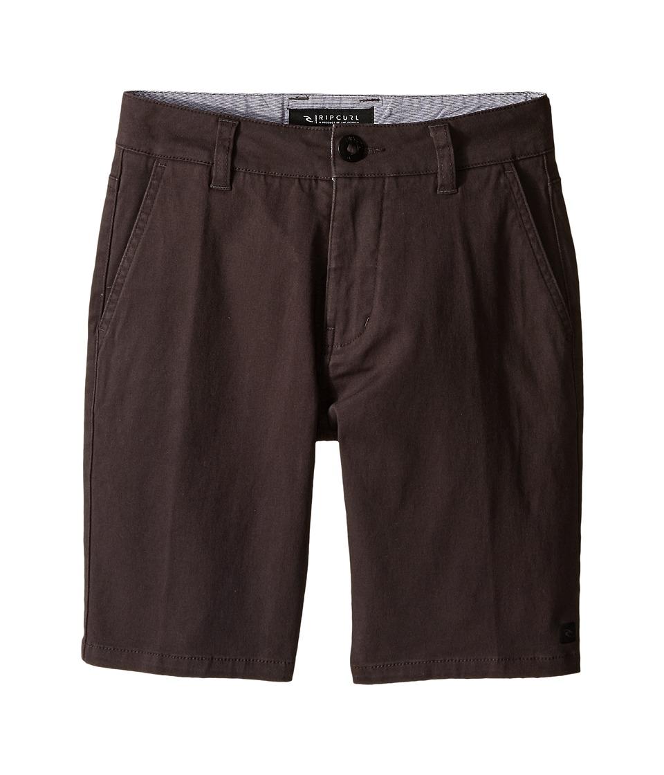 Rip Curl Kids - Epic Stretch Chino Walkshorts (Big Kids) (Charcoal) Boy's Shorts