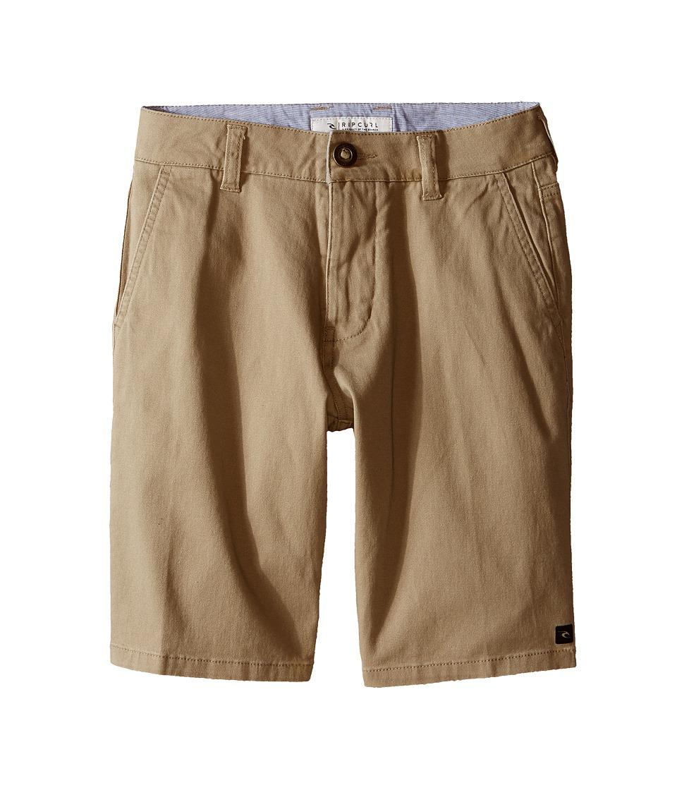 Rip Curl Kids - Epic Stretch Chino Walkshorts (Big Kids) (Khaki) Boy's Shorts