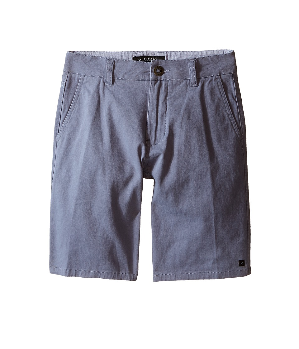 Rip Curl Kids - Epic Stretch Chino Walkshorts (Big Kids) (Blue Grey) Boy's Shorts