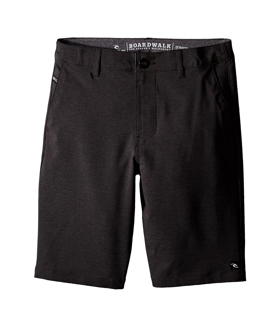 Rip Curl Kids - Mirage Phase Boardwalk Shorts (Big Kids) (Black) Boy's Shorts