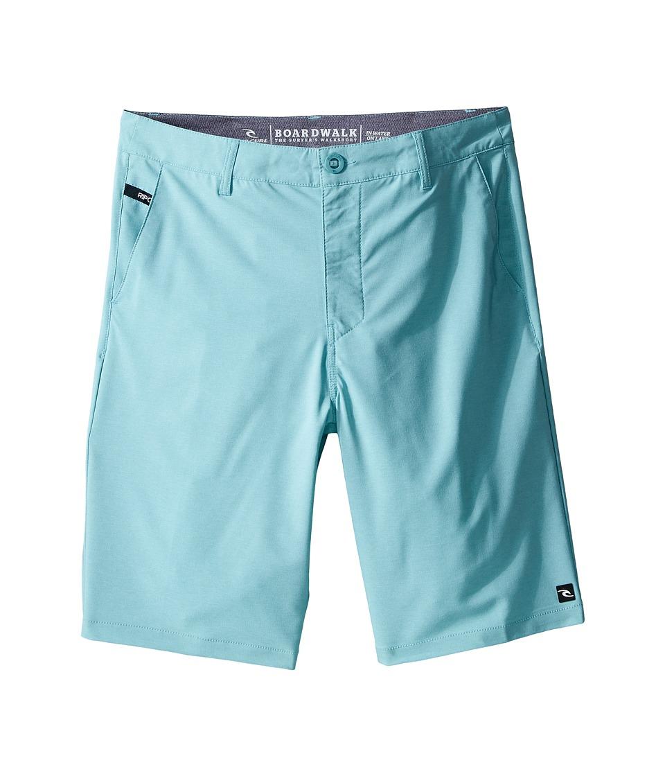 Rip Curl Kids - Mirage Phase Boardwalk Shorts (Big Kids) (Aqua) Boy's Shorts