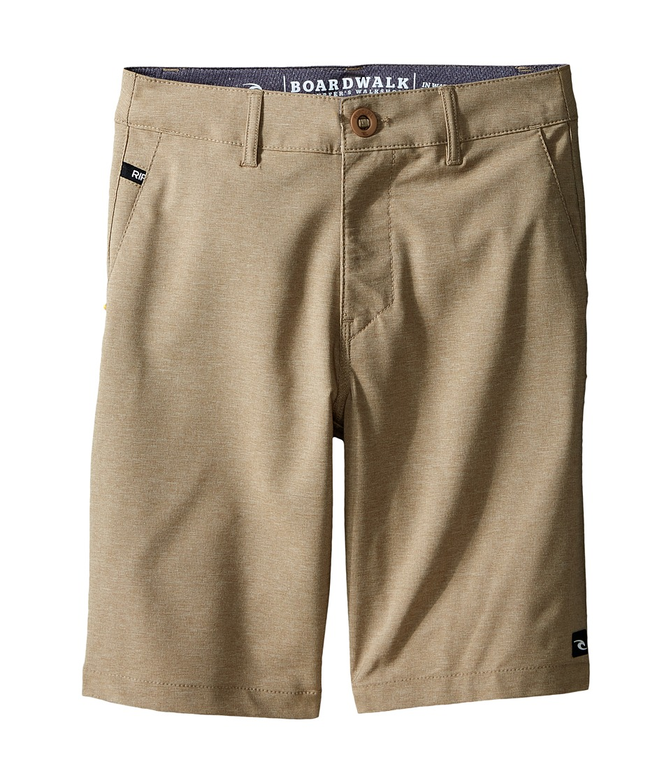 Rip Curl Kids - Mirage Phase Boardwalk Shorts (Big Kids) (Khaki) Boy's Shorts