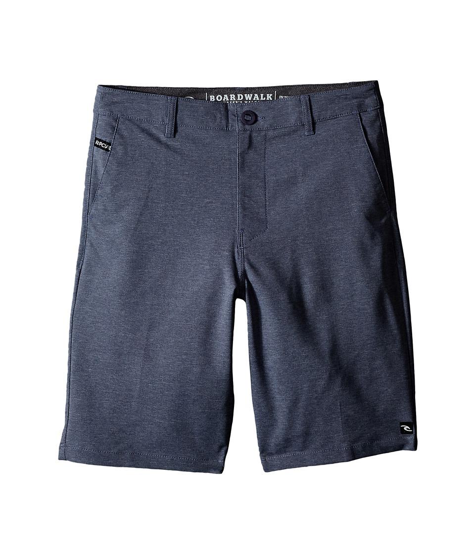Rip Curl Kids - Mirage Phase Boardwalk Shorts (Big Kids) (Navy) Boy's Shorts