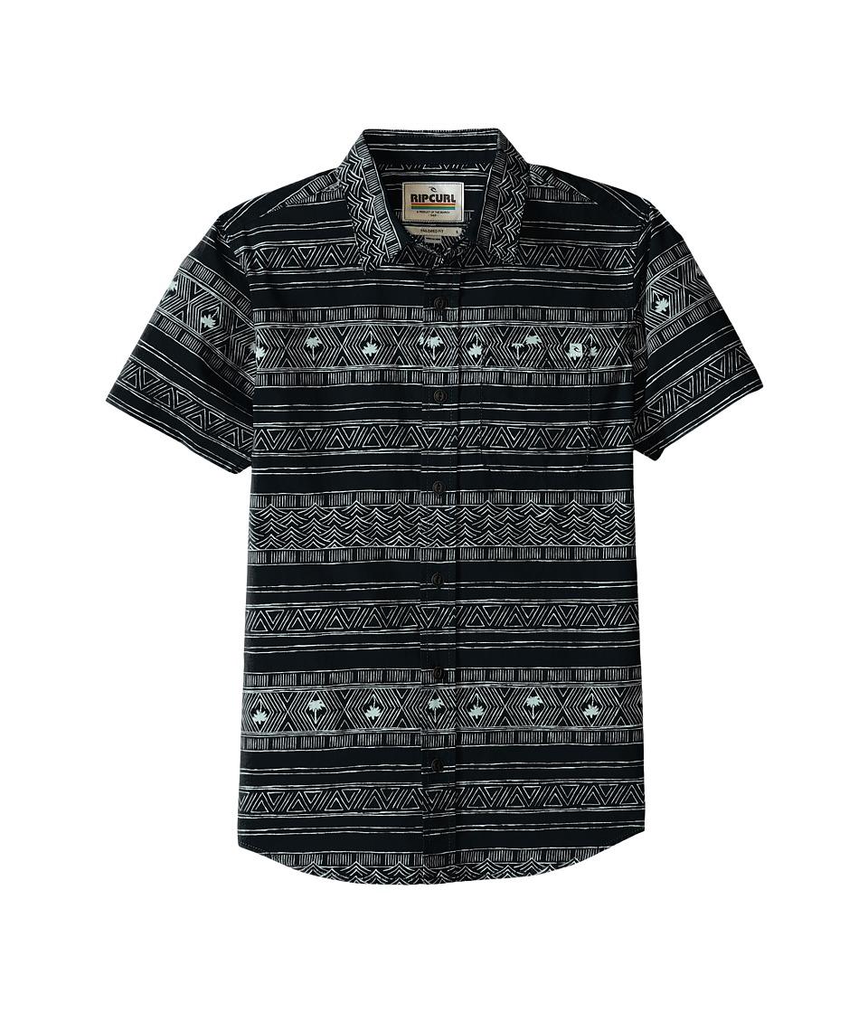 Rip Curl Kids - Cabana Short Sleeve Shirt (Big Kids) (Black) Boy's Clothing