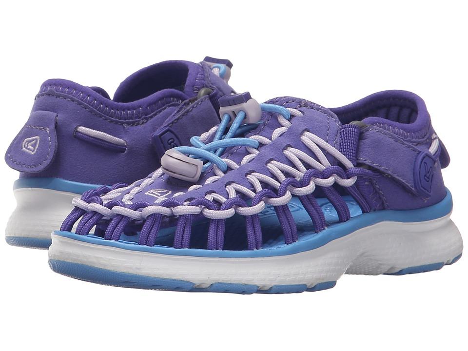 Keen Kids - Uneek O2 (Toddler/Little Kid) (Liberty/Azure Blue) Girl's Shoes