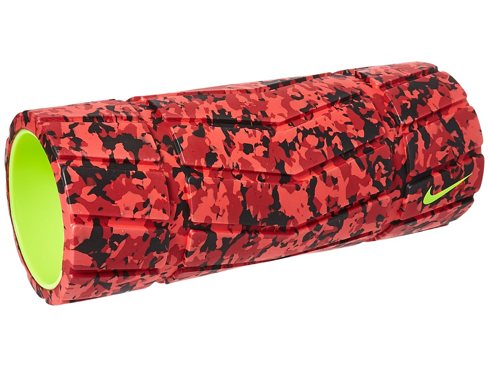 Nike - Nike Textured Foam Roller (Bright Crimson/Team Red/Black/Volt) Athletic Sports Equipment