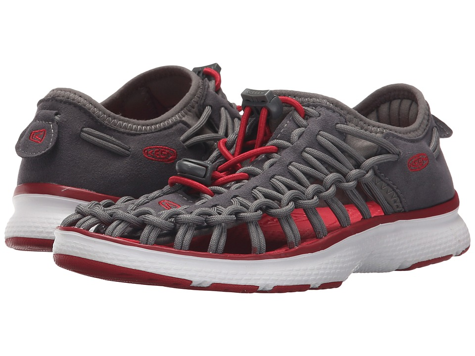 Keen Kids - Uneek O2 (Little Kid/Big Kid) (Magnet/Tango Red) Boy's Shoes