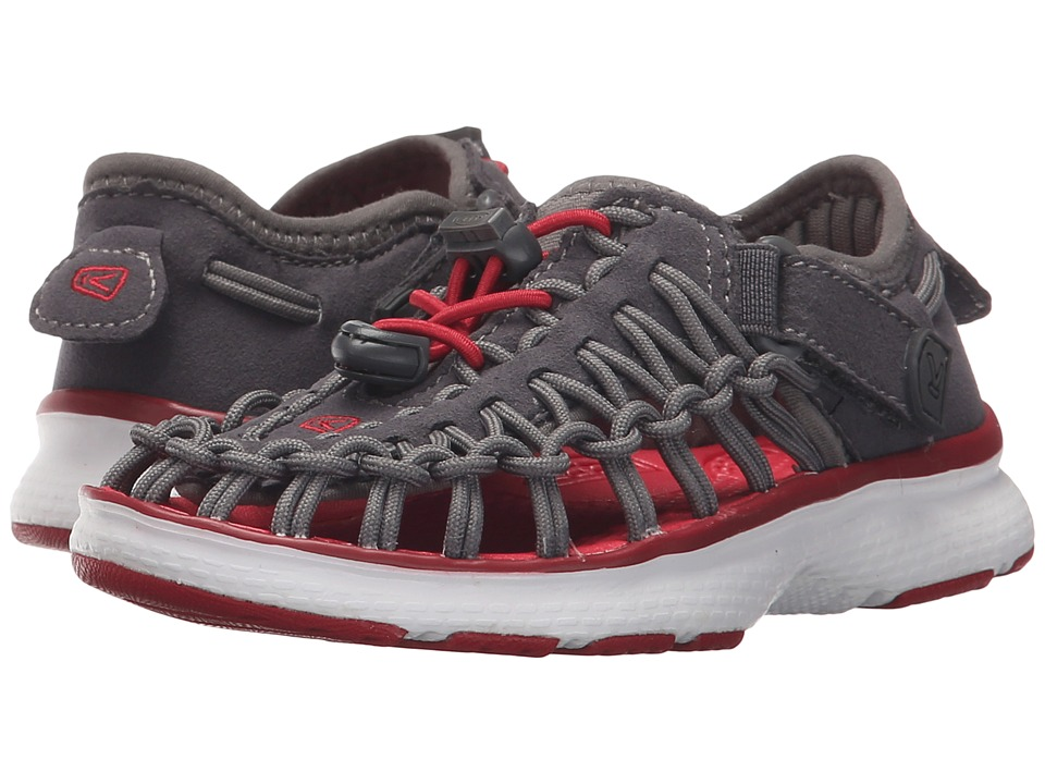 Keen Kids - Uneek O2 (Toddler/Little Kid) (Magnet/Tango Red) Boy's Shoes