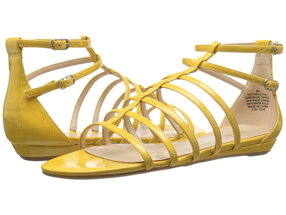 Nine West - Aboutthat (Yellow Synthetic Y) Women's Flat Shoes