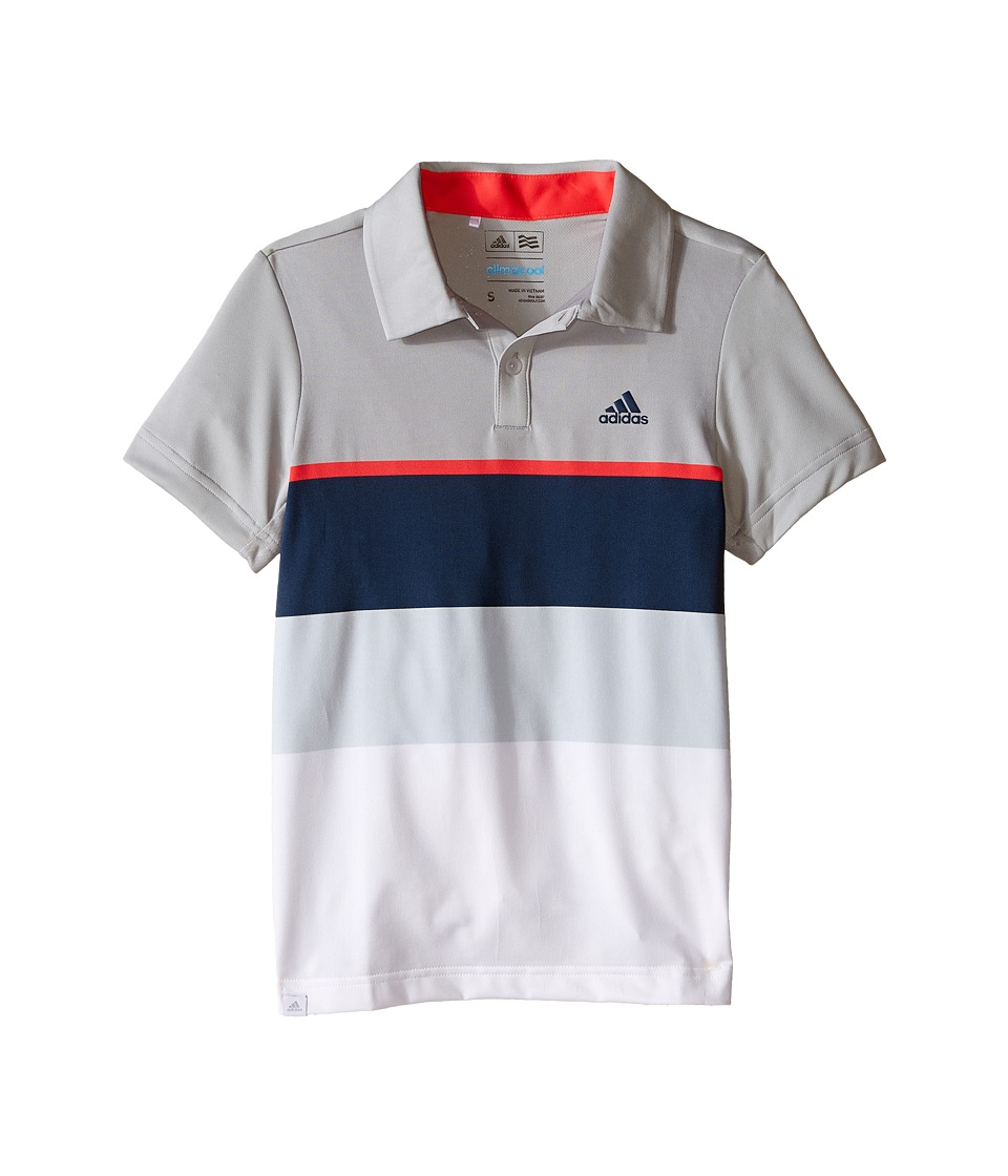 adidas Golf Kids - Climacool Engineered Stripe (Big Kids) (Beige/Stone/Shock Red) Boy's Clothing
