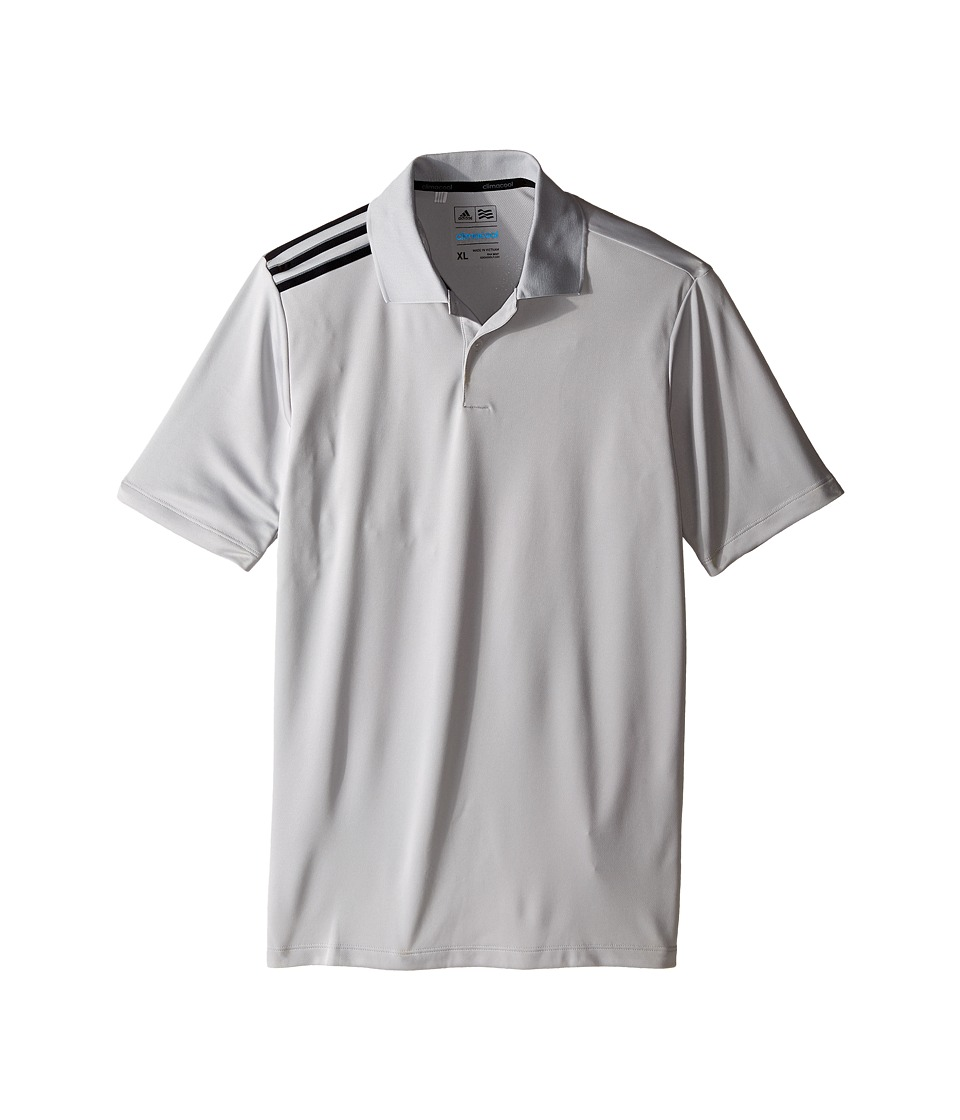 adidas Golf Kids - Climacool 3-Stripes Polo (Big Kids) (Beige/Stone/Black) Boy's Clothing