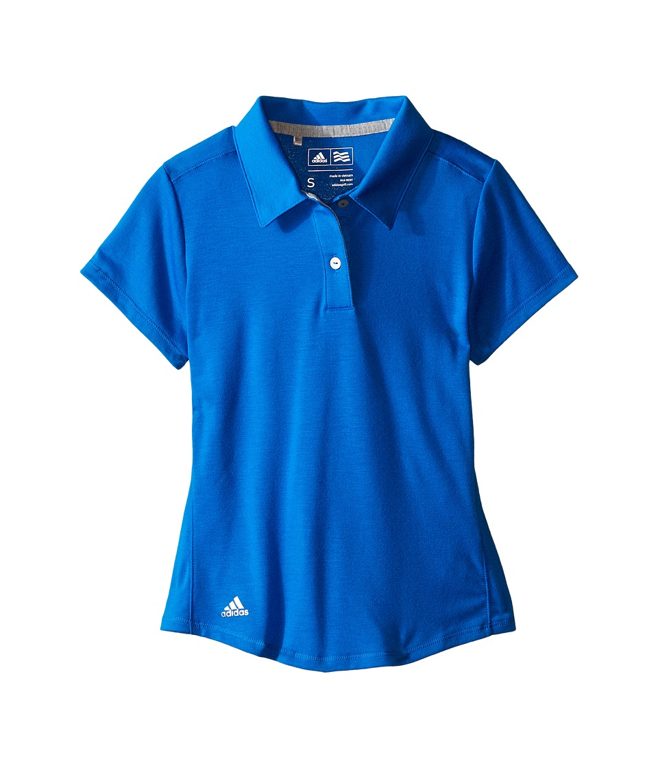 adidas Golf Kids - Climalite Essentials Short Sleeve Heathered Polo (Big Kids) (Shock Blue) Girl's Short Sleeve Pullover