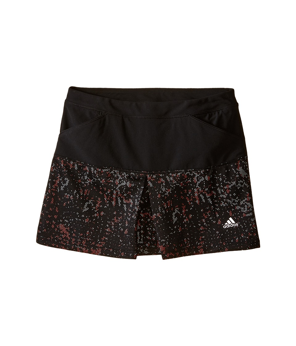 adidas Golf Kids - Tour Mixed Print Pull-On Skort (Big Kids) (Black/Black) Girl's Skort