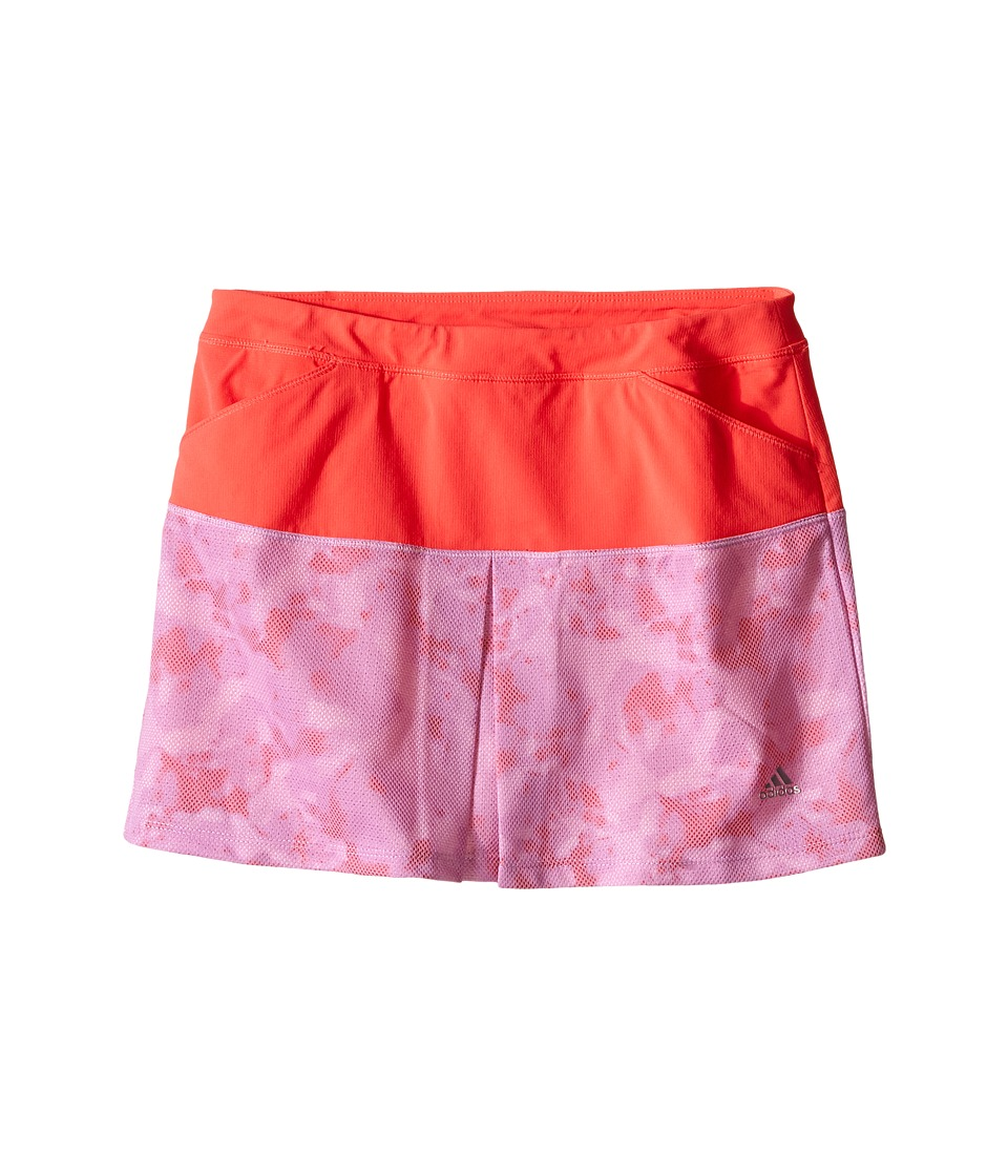 adidas Golf Kids - Tour Mixed Print Pull-On Skort (Big Kids) (Pink/Wild Orchid) Girl's Skort