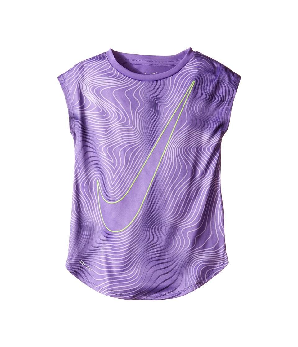 Nike Kids - Kta884 Dri-FIT Short Sleeve Tee (Little Kids) (Hyper Grape) Girl's T Shirt