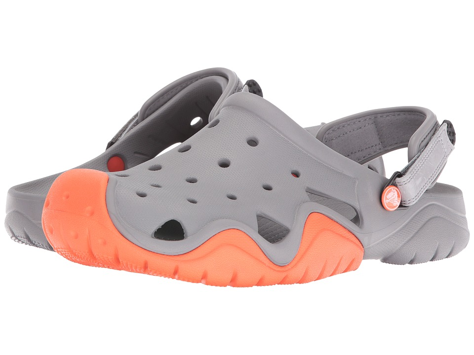 Crocs - Swiftwater Clog (Smoke/Tangerine) Men's Shoes