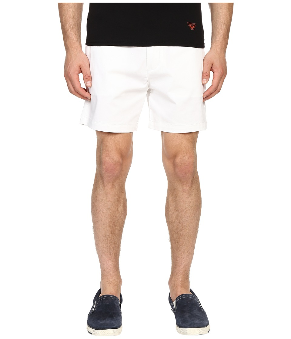 Armani Jeans - Cotton Shorts (White) Men's Shorts