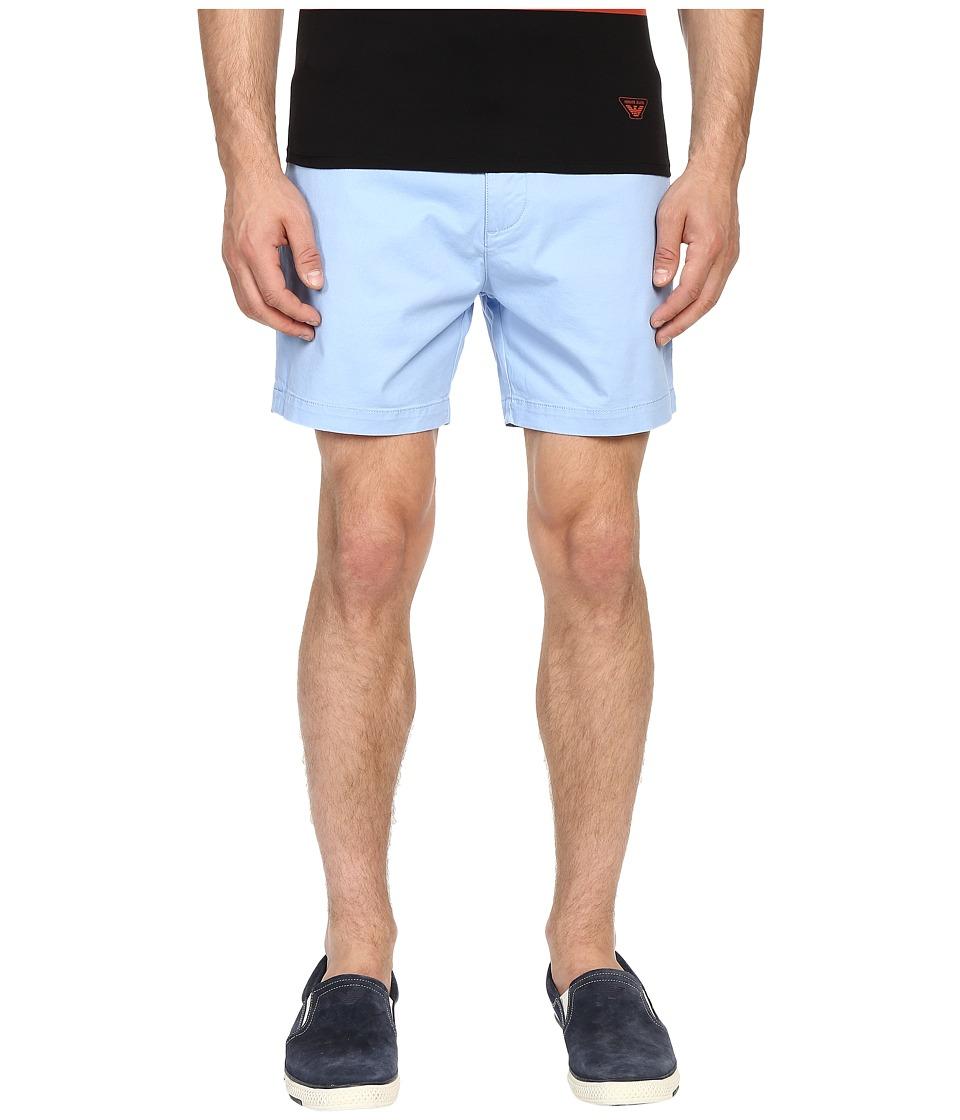 Armani Jeans - Cotton Shorts (Light Blue) Men's Shorts