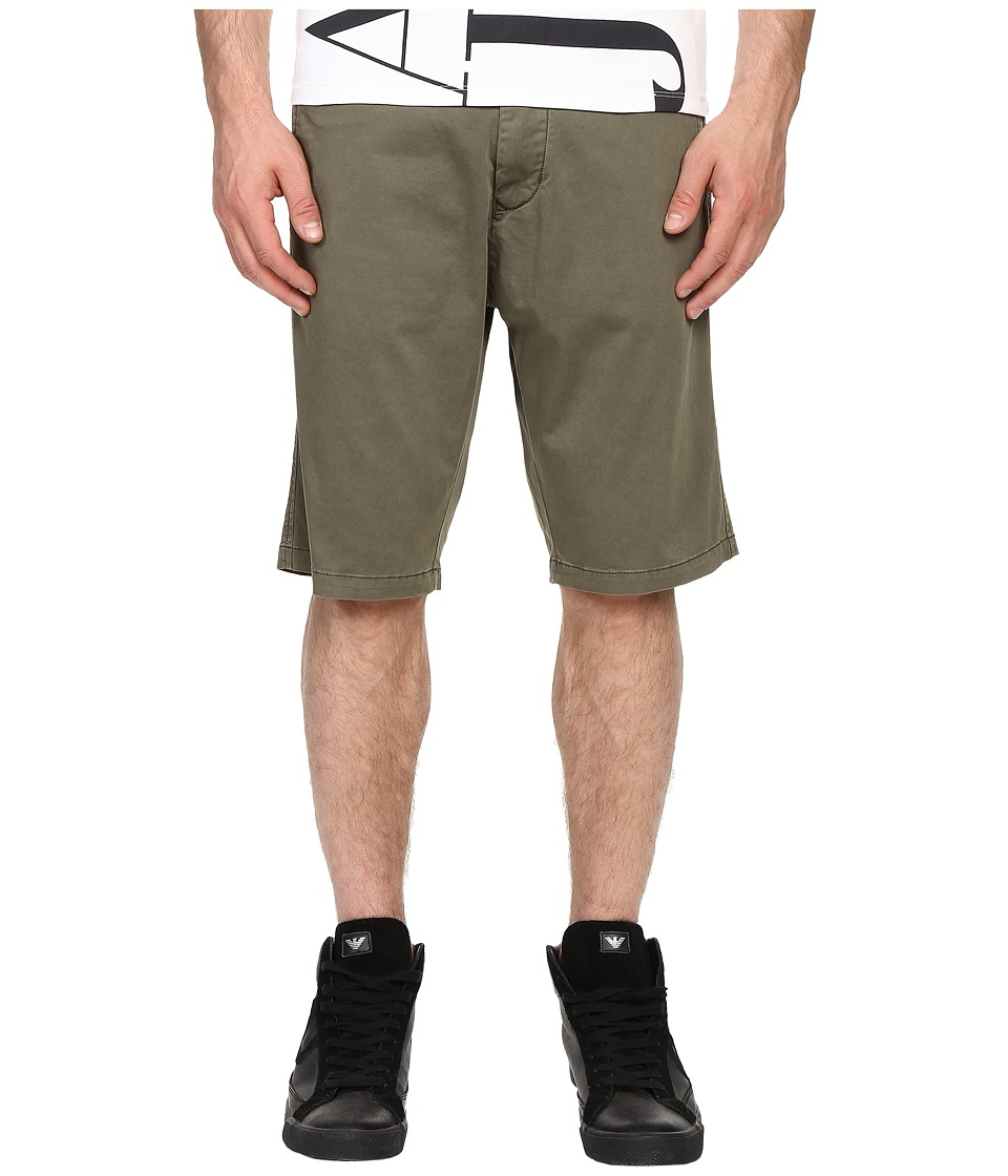 Armani Jeans - Slim Low Rise Shorts (Green) Men's Shorts