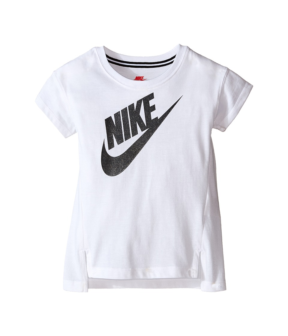 Nike Kids - Signal GFX Tee (Toddler) (White) Girl's T Shirt