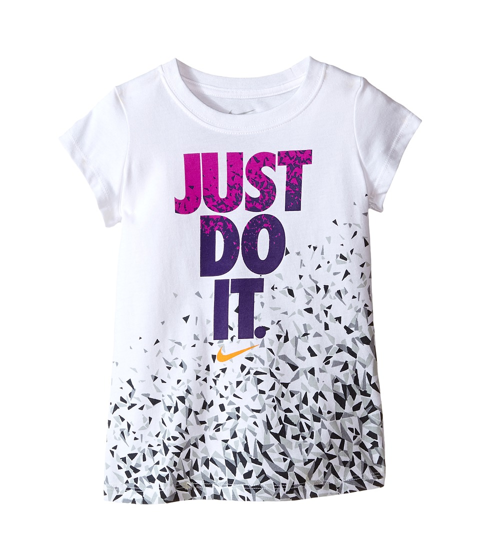 Nike Kids - Just Do It Facet Short Sleeve Tee (Toddler) (White) Girl's T Shirt