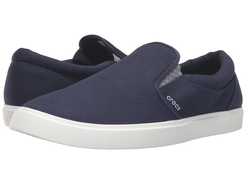 Crocs CitiLane Slip-On Sneaker (Navy/White) Men