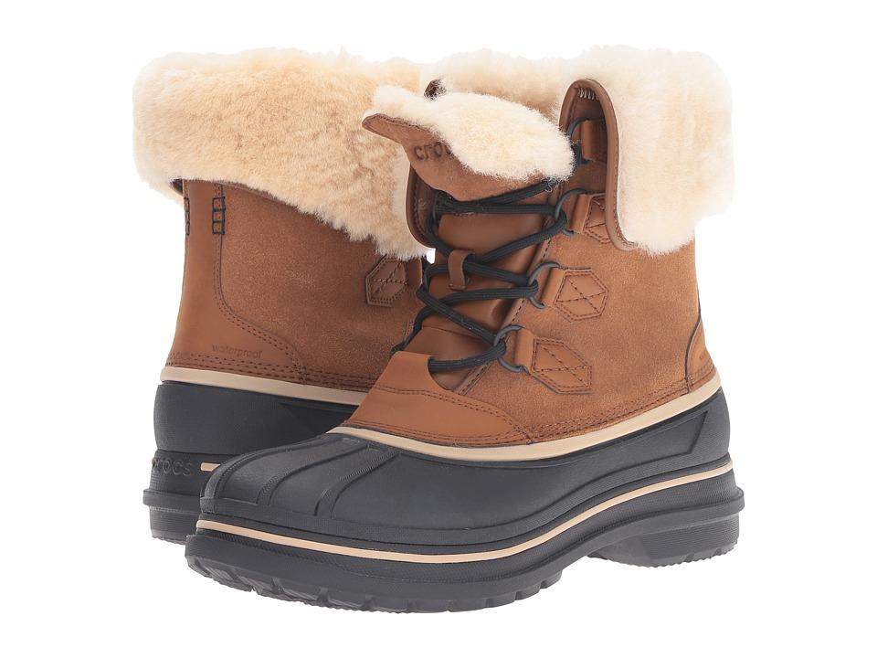 Crocs - AllCast II Luxe Boot (Wheat/Black) Men's Boots