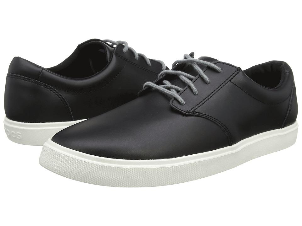 Crocs CitiLane Leather Lace-Up (Black/White) Men