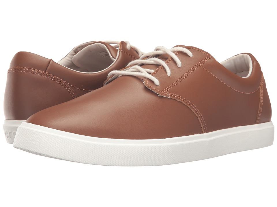 Crocs - CitiLane Leather Lace-Up (Tan/White) Men's Lace up casual Shoes