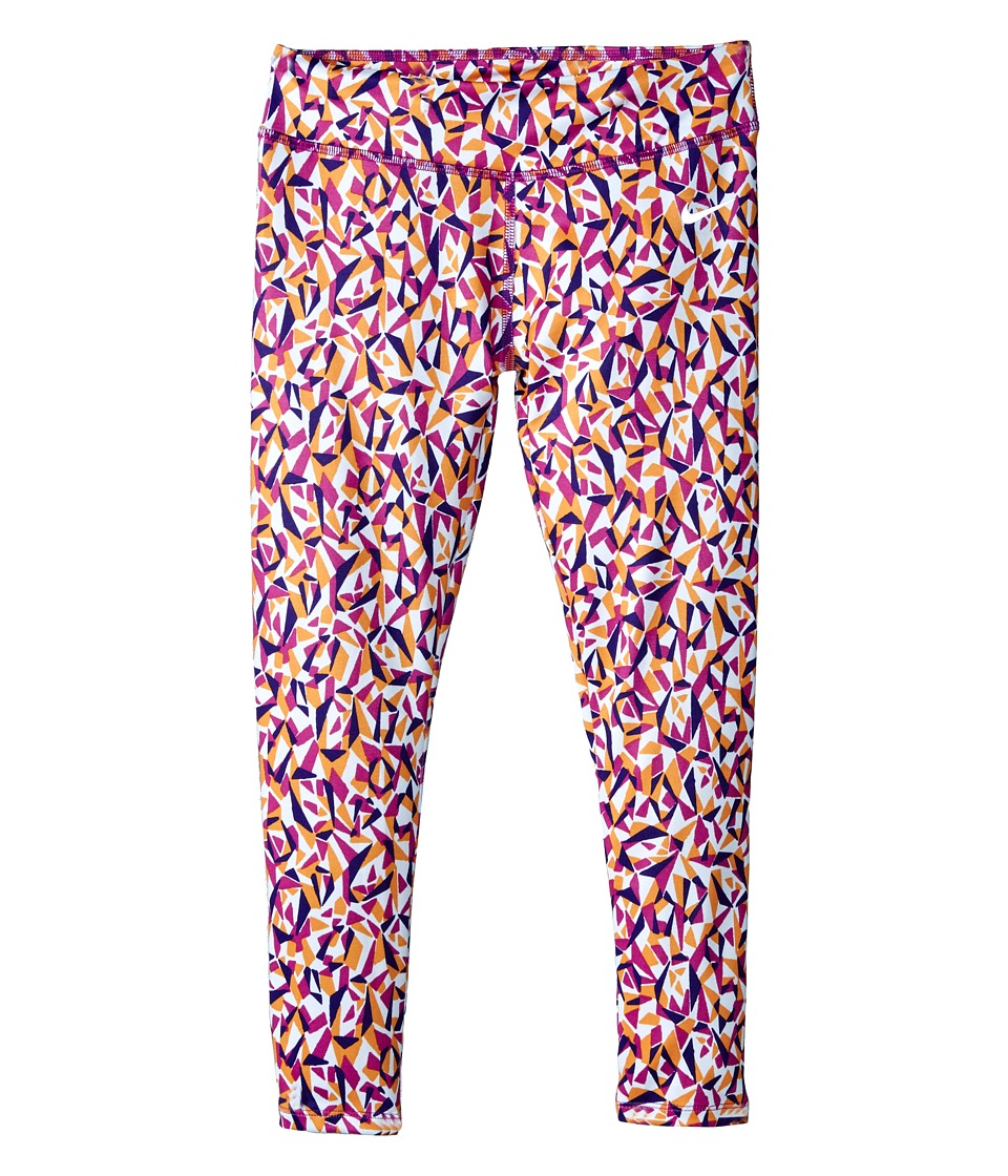 Nike Kids - Dri-FIT Essentials Allover Print Tight (Little Kids) (Hyper Violet) Girl's Casual Pants
