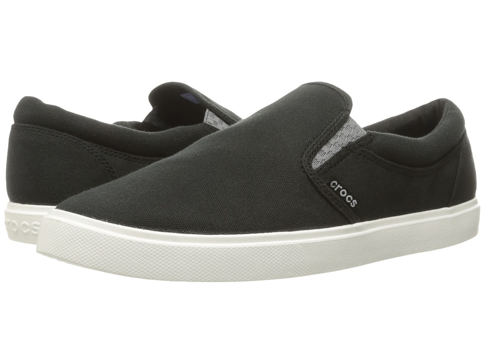 Crocs CitiLane Slip-On Sneaker (Black/White) Men