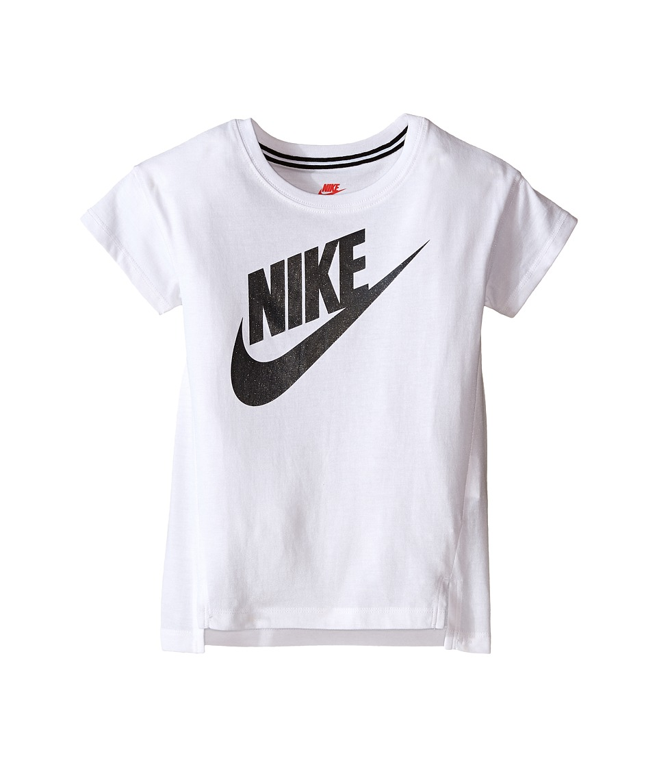 Nike Kids - Signal GFX Tee (Little Kids) (White) Girl's T Shirt