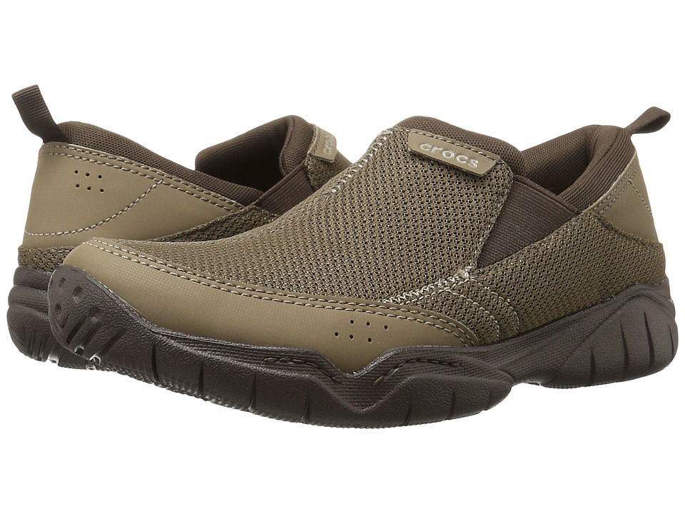Crocs - Swiftwater Mesh Moc (Walnut/Espresso) Men's Moccasin Shoes
