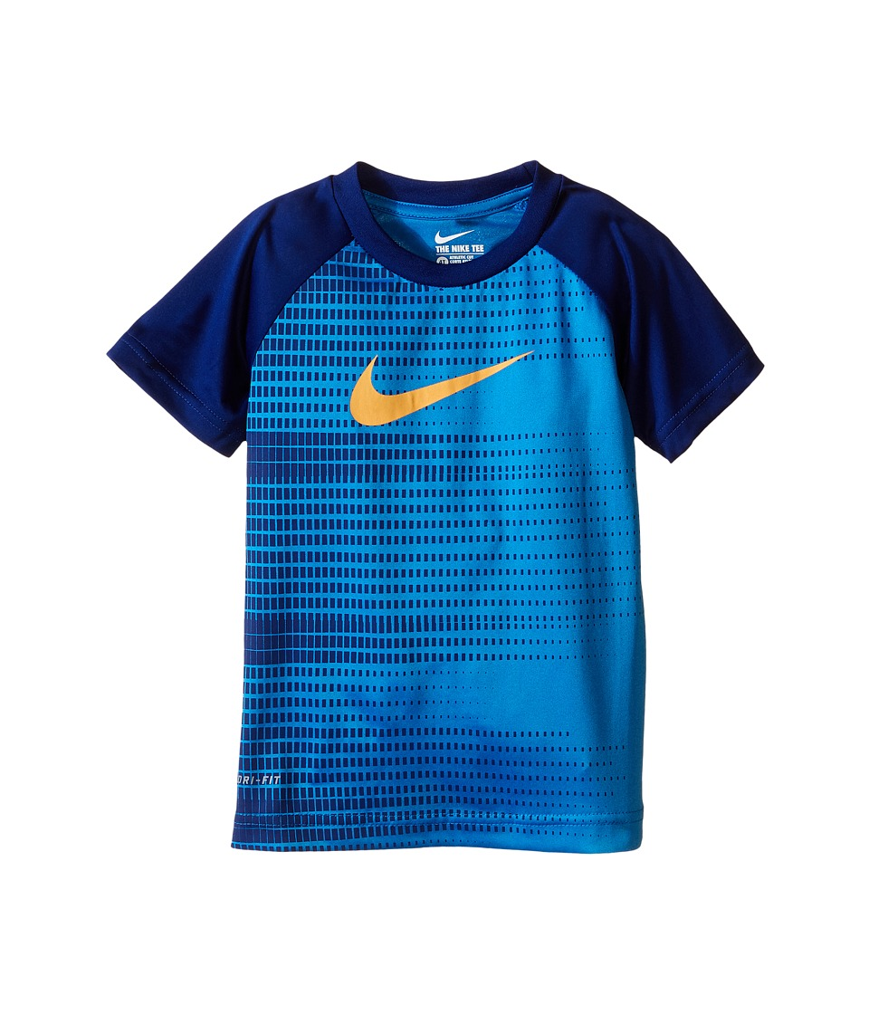 Nike Kids - Speed Squares Dri-FIT Short Sleeve Tee (Toddler) (Photo Blue) Boy's T Shirt