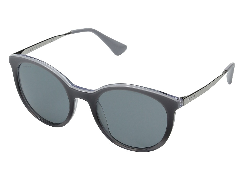 Prada - 0PR 17SS (Grey Gradient/Dark Grey) Fashion Sunglasses