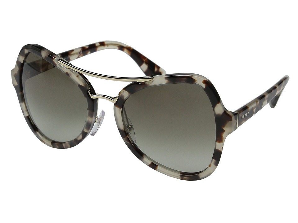 Prada - 0PR 18SS (Spotted Opal Brown/Green Gradient) Fashion Sunglasses