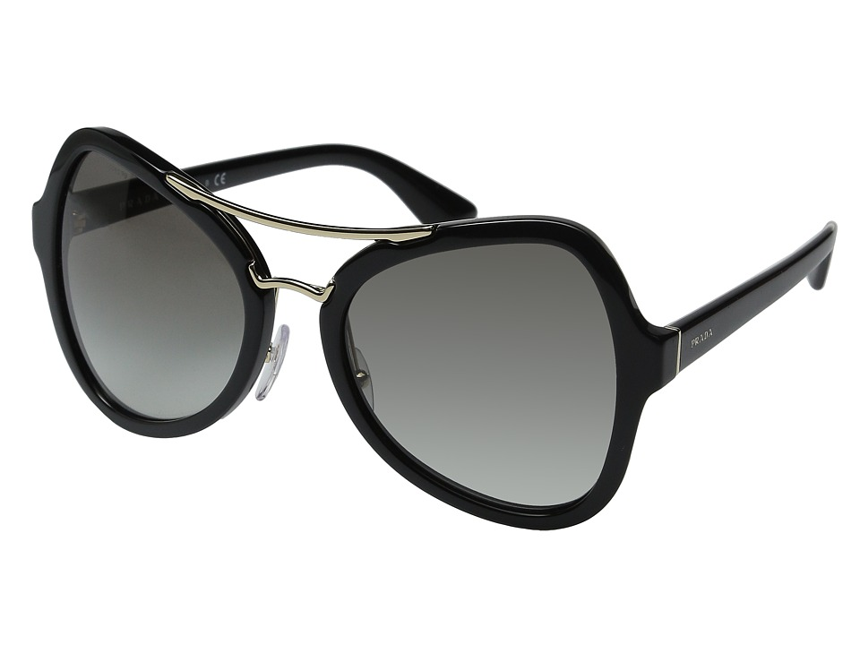 Prada - 0PR 18SS (Black/Grey Gradient) Fashion Sunglasses
