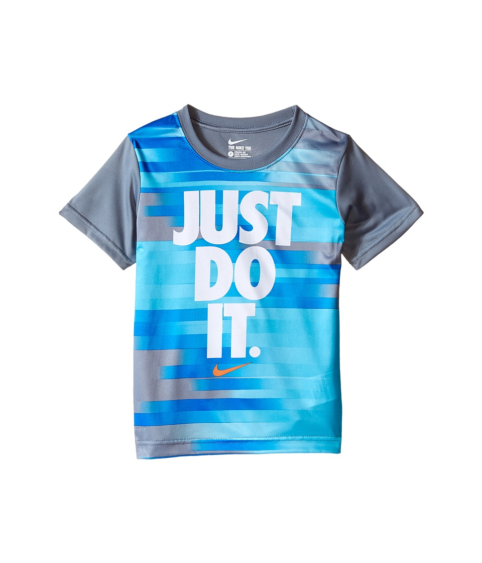 Nike Kids - Just Do It Splice Dri-FIT Short Sleeve Tee (Little Kids) (Cool Grey) Boy's T Shirt