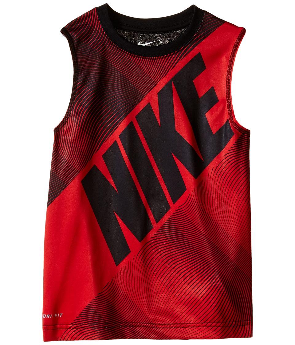 Nike Kids - Block Print Dri-FIT Muscle Top (Little Kids) (University Red) Boy's Clothing