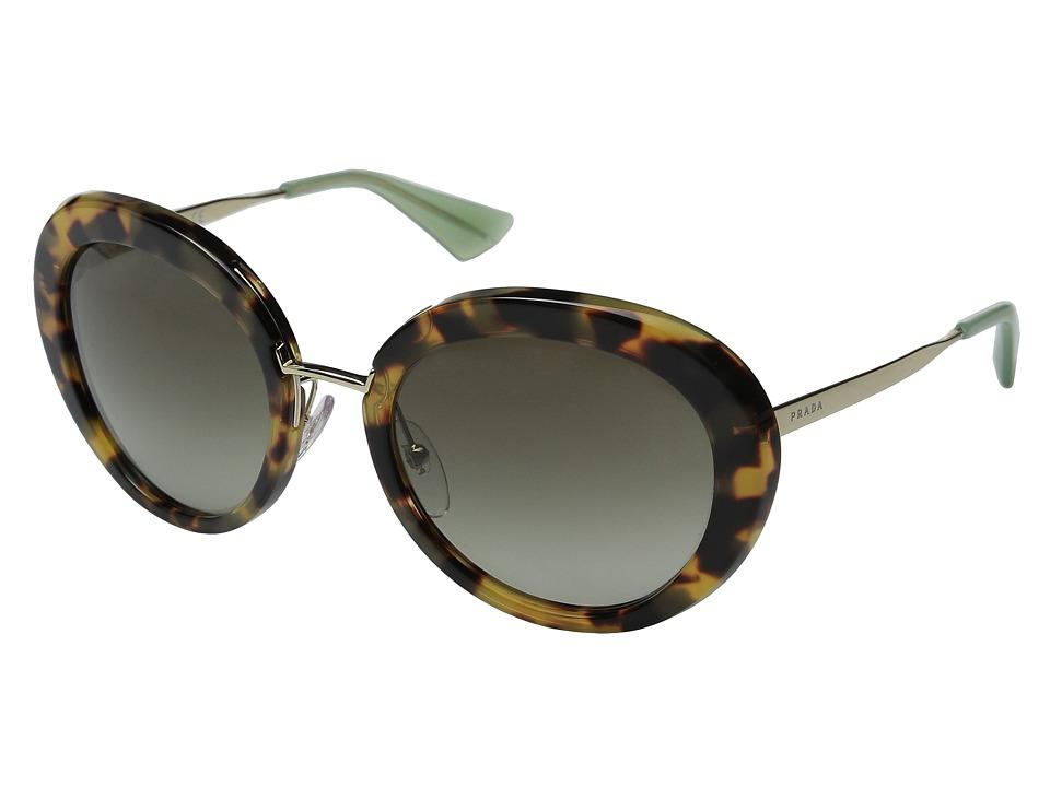 Prada - 0PR 16QS (Medium Havana/Green Gradient) Fashion Sunglasses