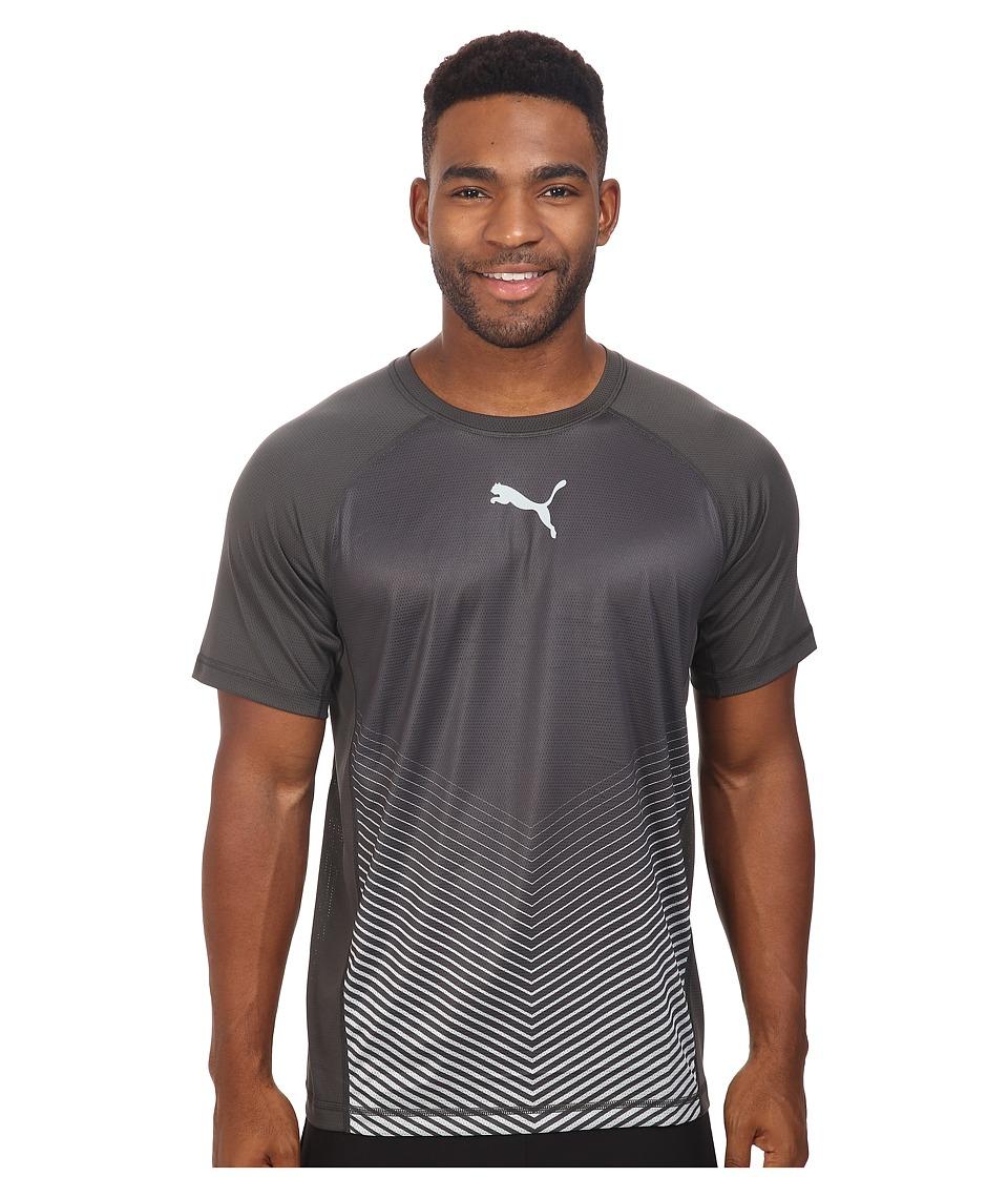 PUMA - Vent Short Sleeve Tee (Asphalt/Quarry) Men's T Shirt
