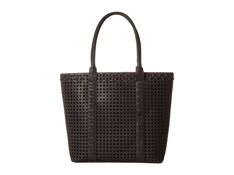 Madden Girl - Mgnavy Perforated Bag In A Bag Tote (Black) Tote Handbags