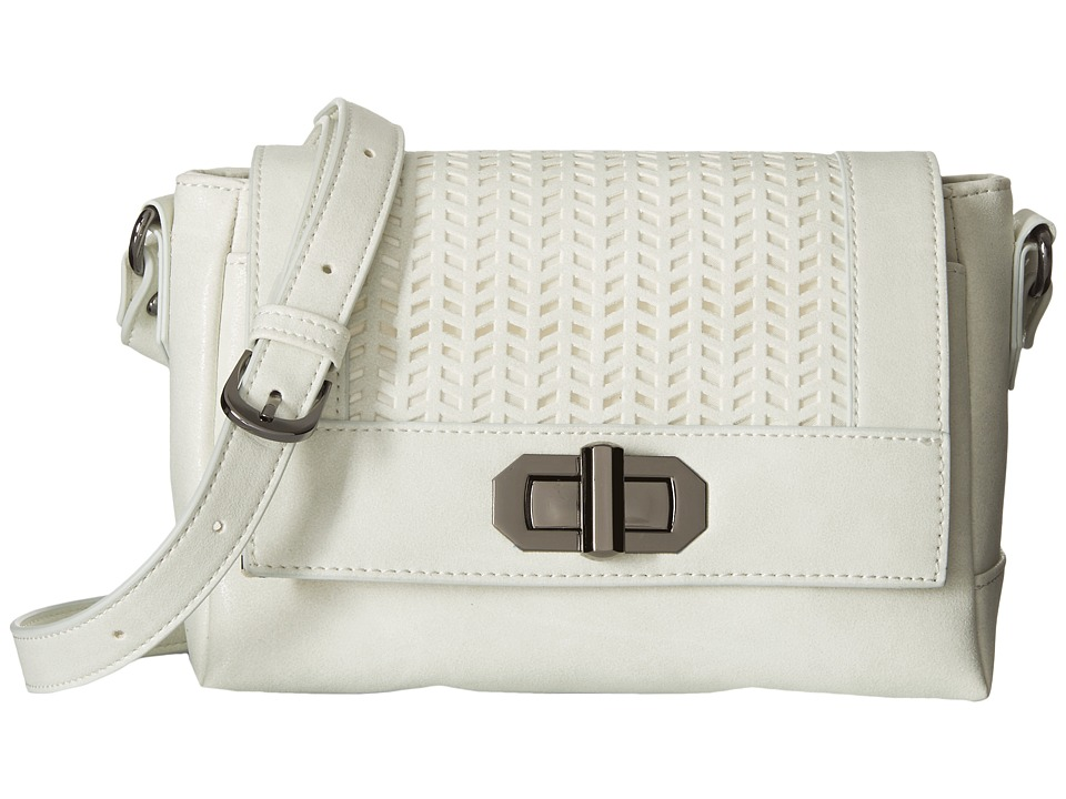 Madden Girl - Mgswift Perforated Crossbody (White) Cross Body Handbags